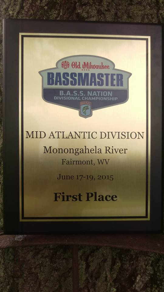 1st Place Bass Plaque